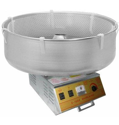 XXLselect Zuckerwattemaschine | Edelstahl Behälter | Whirlwind | 36x48x(h)48cm