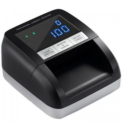XXLselect Falschgelddetektor 330LED   6-Fache Kontrolle/0,5 Sek   LED Screen