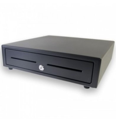 XXLselect Kassenschublade Fronttouch Schwarz | USB-410 | 8 Münz/ 4 Banknote | Afroomgleuf | 410x415x110(h)mm