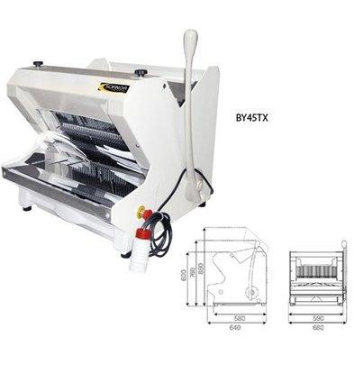 Sofinor Brotschneidemaschine Weiß Tischmodell | Semi-Automatisch | Einfuhr Oberseite | 490W