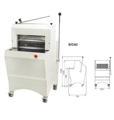 Sofinor Brotschneidemaschine | Semi-Automatisch | Brotscheibe Dicke 11-16mm | 490W