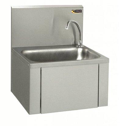 Sofinor Edelstahl Handwaschbecken   Kniebedienung   Wassersparend   460x380x(h)524mm