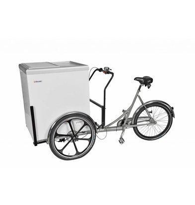 Elcold Fahrrad für Mobilux Kühl- und tiefkühltruhe  | Schwarz | Geeignet für 12 V Akku | 201x90x(h)118mm