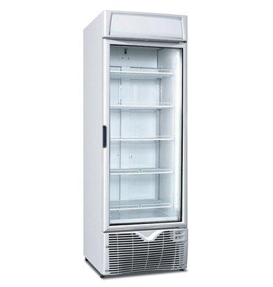 Framec Zwangsluft Kühlschrank mit Glastür | 472 Liter | 350Watt | Linksdrehend | 5 Verstellbare Roste | 66,8x68,5x(h)199cm