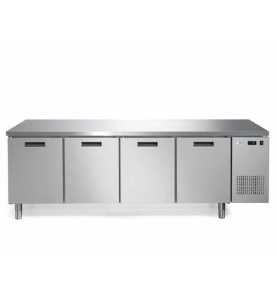 Afinox Kühltisch 4-Türig | None Fingerprint | Afinox FRESH 4 TN I/A | 245,2x70x85cm | Erhältlich in 2 Varianten