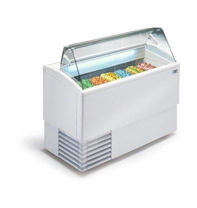 ISA Eistheke mit Glasaufbau | 7+(7) Behälter | 830 Watt | 135,4x80x(h)117,6 cm