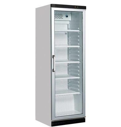 Kleo Display Kühlschrank mit Glastür | LED Beleuchtung | Weiß | 59x61x(h)188,5cm | Erhältlich in 2 Varianten