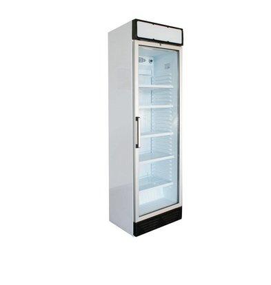 Kleo Display Kühlschrank mit Glastür | Linksdrehend | LED Beleuchtung | Weiß | 59x61x(h)201cm