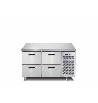 Afinox Kühltisch 4 Schubladen | 126x70x(h)90cm | Erhältlich in 2 Varianten
