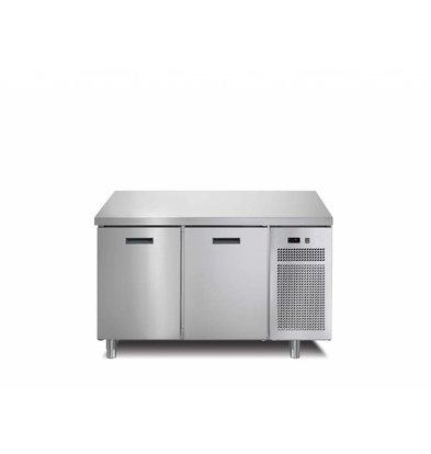 Afinox Tiefkühltisch  2-Türig   126x70x(h)90cm   Erhältlich in 2 Varianten