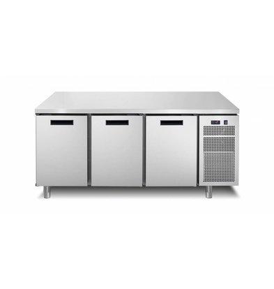 Afinox Tiefkühltisch  3-Türig | 172,1x70x(h)90cm | Erhältlich in 2 Varianten