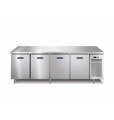 Afinox Tiefkühltisch  4-Türig | 218,2x70x(h)90cm | Erhältlich in 2 Varianten