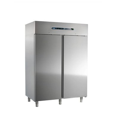 Afinox Edelstahl Doppel Kühlschrank | MEKANO 1400 BT | 146,6x84,3x(h)209cm