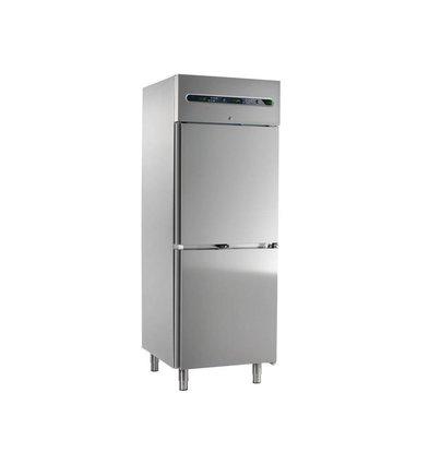Afinox Edelstahl Kühl- Tiefkühlschrank | 700 Liter | Afinox | 73,3x84,4x(h)209cm