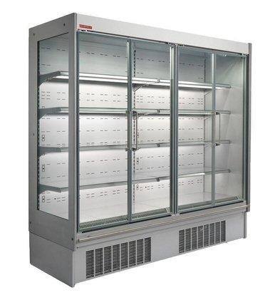Oscartielle Wandkühlregal | Klapptüre aus Glas | Steckerfertig | Erhältlich in 3 Größen