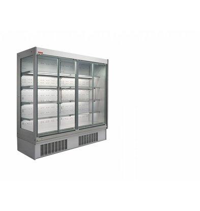 Oscartielle Wandkühlregal hohes Modell | Klapptüre aus Glas | Steckerfertig | Erhältlich in 4 Größen