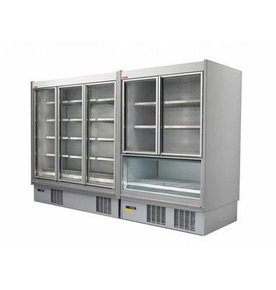 Oscartielle Wand-Tiefkühlregal | Klapptüre aus Glas | Steckerfertig | Erhältlich in 2 Größen
