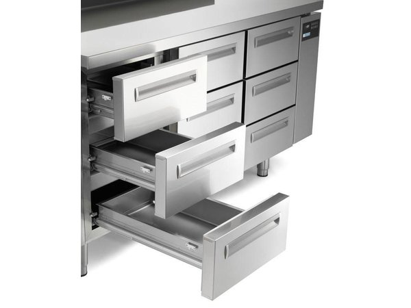 Afinox Tiefkühltisch Edelstahl | 2-Türig | SPRING 702 I/A BT | 130x70x(h)90cm | Erhältlich in 2 Varianten