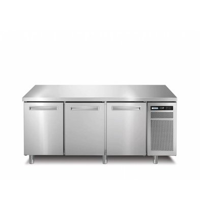 Afinox Tiefkühltisch Edelstahl | 3-Türig | SPRING 703 I/A BT | 178x70x(h)90cm |