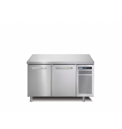 Afinox Tiefkühltisch Edelstahl | 2-Türig | R290 | SPRING 702 I/A BT | 130x70x(h)90cm