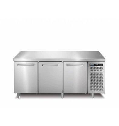 Afinox Tiefkühltisch Edelstahl | 3-Türig | R290 | SPRING 703 I/A BT | 178x70x(h)90cm |