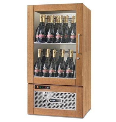 Afinox Weinklimaschrank mit Glastür | WIJN TALENTO 590 SL | Wenge Farbe | Afinox | 59x55,1x(h)113,4cm