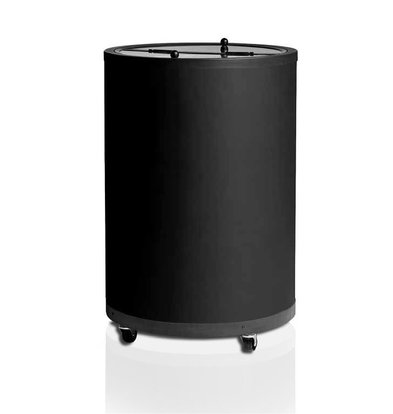 Esta Kühltonne mit Ventilator | Esta Impulse | Schwarz | Schwenckrollen | 80 Liter | Ø56,7x83cm