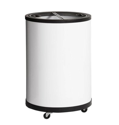 Esta Tiefkühltonne Weiß | Esta Impulse | Schwenckrollen | 80 Liter | Ø56,7x83cm
