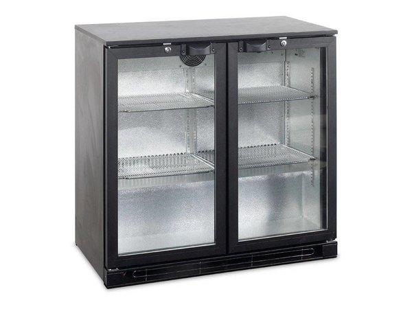 Kühlschrank Schwarz : Backbar kühlschrank schwarz klapptüre aus glas ba h r a