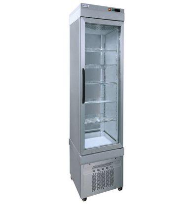 Tekna Line Display Tiefkühlschrank Aluminium | 5 Roste | +5°/-25°C | 46x64x(h)193cm
