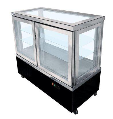 Tekna Line Konditorei Vitrine | CIELO 132 | +10°/-5°C | 5 Seiten Glas | 132x64x(h)123cm