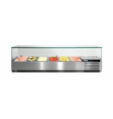 Afinox Aufsatzvitrine mit Glas-Top  | VRS 1300/V GN 1/1 | Afinox |