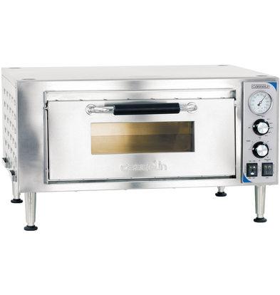 Casselin Quarz Pizza Ofen | Geeignet für 2x Ø26 cm | 1800W | 690 x 700 x (H) 380 bis 400 mm