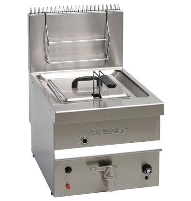 Casselin Gas Fritteuse 10 Liter | Tischmodell 6500W | 400 x 600 x (H) 650 mm