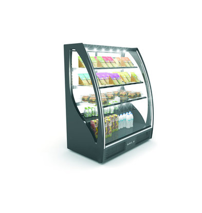 SAYL Gebogene Display Kühlvitrine | Zugang von hinten | 1015x620x (H) 1240 mm