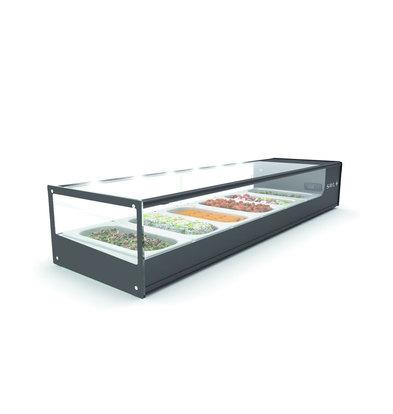 SAYL Tapas Kühlvitrine | LED-Beleuchtung | Geeignet für 1 / 3GN 40mm | Verfügbar in 2 Größen