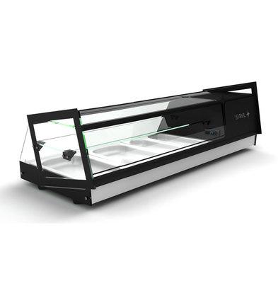 SAYL Aufsatz-Kühlvitrine mit Glasstruktür | Geeignet für 1 / 3GN 40mm | Erhältlich in 3 Größen