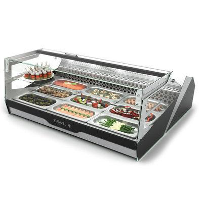 SAYL Buffet Kühlvitrine | Block Line | 1 / 1GN 65mm Behälter | LED-Beleuchtung | Verfügbar in 2 Größen