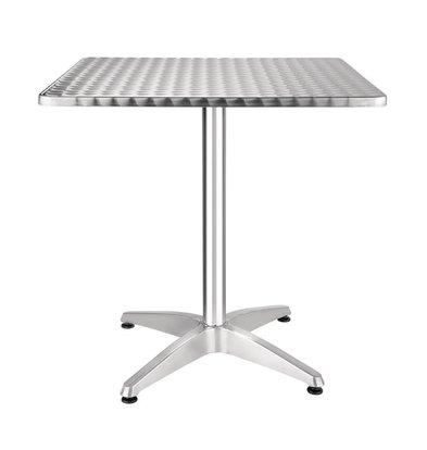 Bolero Bistrotisch Edelstahl | Aluminium Fuß | 700x700x(h)720mm