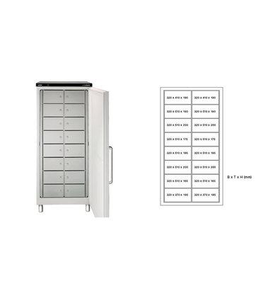 Rieber Fächerkühlschrank | Verteilt in Schließfächer | Erhältlich in 4 Größen