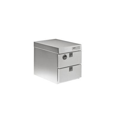 Rieber Thermomat 2 Schubladen GN 1/1 150mm | Garen und Warmhalten | 0,83kW | 448x691x554mm