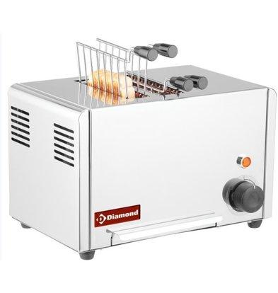 Diamond Toaster Edelstahl | 2 Schlitze | 1,3 kW | 320x200x (H) 225 mm