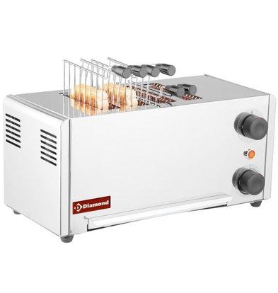Diamond Toaster | Edelstahl | 4 Schlitze | 2,15 kW | 430x200x (H) 225 mm