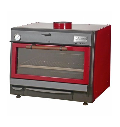 Diamond Holzkohleofen-Grill | GN1/1+ GN2/4 | 75kg/St | 800x675(990)xh690mm | In 2 Farben