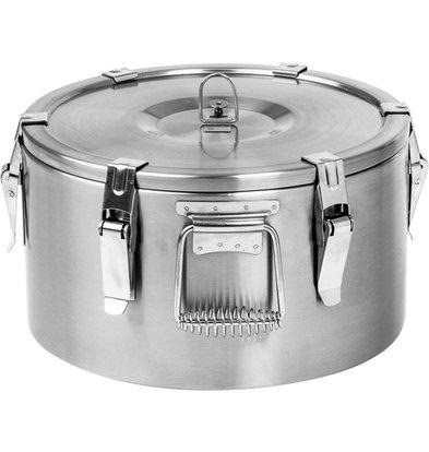 Stalgast Thermo-Transportbehälter Edelstahl | 10 Liter | (Ø) 360 mm (h) 210 mm