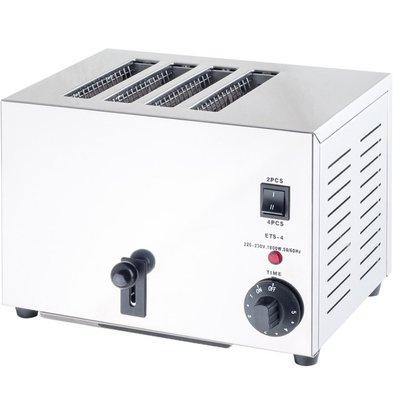 Stalgast Toaster | 4 Steckplätze | 1800 W | (h) 215 mm (t) 225 mm (B) 300 mm