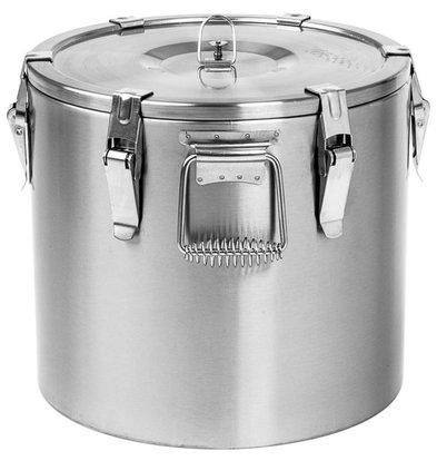 Stalgast Thermo-Transportbehälter Edelstahl | 20 Liter | (Ø) 270mm (h) 530mm