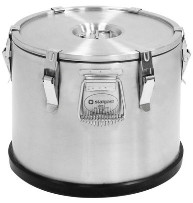 Stalgast Thermo Transportbehälter | Edelstahl | 25 Liter | (Ø) 360 mm (h) 415 mm