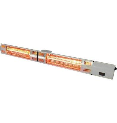 Stalgast Heizlampe   Wand oder Decke Modell   mit Fernbedienung   1,5 kg   (h) 100 mm (t) 90 mm (l) 1050 mm