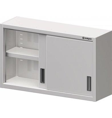 XXLselect Edelstahl Wandhängeschrank | Schiebetür| (h) 600 mm (t) 400 mm (W) 1000 mm